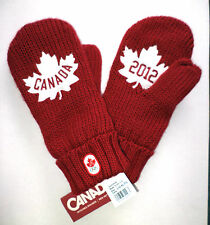 Red Mittens 2012 OLYMPIC team CANADA HBC new style LG/XL adult size NWT