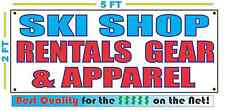 SKI SHOP RENTALS GEAR APPAREL Full Color Banner Sign NEW Best Quality for the $$