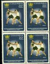 BOXEO {BOXERS}- IV JUEGOS BOLIVARIANOS-  B/QUILLA  1961  4 STAMPS-COLOMBIA