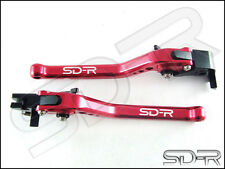 2009 - 2016 Aprilia RSV4 / RSV4 FACTORY CNC Long Adjustable Levers - Red