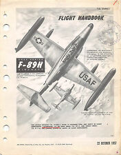 F-89H Scorpion Flight Handbook Flight Manual Air Force Manual  (CD version)