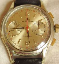 Stunning 1950s Gents Ollech&Wajs GP L 248 Chronograph Watch serviced warranty