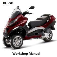 Vespa MP3 250 Workshop Manual * CDROM * PDF
