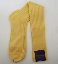 RALPH LAUREN PURPLE Label Cotton Blend Tall Long OVER THE CALF Socks Large