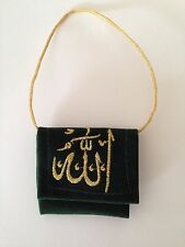 Beautiful Velvet Pouch car hanging inside mini booklet quran Verses