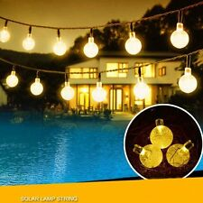 20ft 30 Solar LED Outdoor Waterproof String Lights Warm White Garden Decor