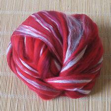 100g Dyed Merino Wool & Tussah Silk Blend - Aphrodite - Felt Making, Spinning