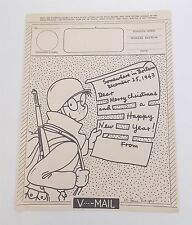 WWII Army SOMEWHERE in BRITAIN 1943 Christmas V-Mail Form Breger GI Joe 1023-14