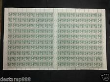 1943 Malaysia  Japanese Occupation 1c Full Sheet of 200