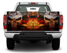 Punisher Skulls Tailgate Decal Sticker Wrap Pickup Truck SUV
