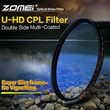 ZOMEI 49mm Slim U-HD MC-CPL Circular Polarizing Filter for Canon Nikon Camera