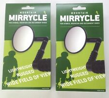 2 PACK MIRRYCLE BICYCLE BIKE BAR END MOUNTAIN HYBRID COMMUTER MIRRORS NEW