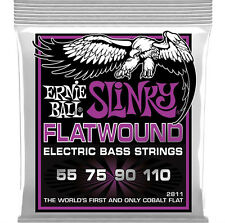 ERNIE Ball 2811 COBALT Flatwound Power Slinky 4-string bass corde 55 - 110