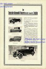 DAK D.A.K. Presto Vomag Dux Magirus XXL Reklame 1925 Deutsche Automobil Werke +