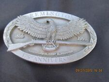 Remington 175th Anniversary Belt Buckle Eagle Rifle