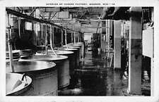 Monroe Wisconsin Cheese Factory Interior Antique Postcard K39765