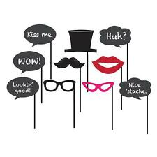 Photo Booth Props Party Bachelorette Wedding Birthday Moustache Chalkboard Funny