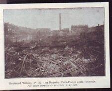 1919  --  MAGASINS FRANCE PARIS INCENDIES  137 BD VOLTAIRE  X197