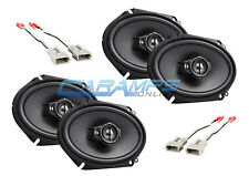 NEW KENWOOD 3-WAY CAR/TRUCK STEREO FRONT AND REAR SPEAKERS W SPEAKER WIRING