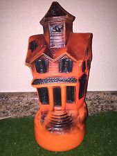 "Rare Vintage Halloween 13"" 1969 Lighted Blow Mold Haunted House Decoration"