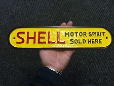 Grand Moteur De Coquille Esprit Here peint Porte signe métal Panneau De Garage