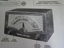 WESTINGHOUSE H-350T7 & H-351T7 RADIO PHOTOFACT