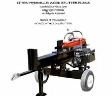 Horizontal Wood-Log Splitter Plans, Hydraulic 18 Ton, WoodSplitterPlans.Com