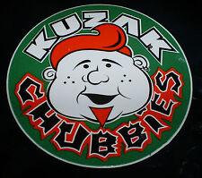 Vintage green Kuzak Chubbies aggressive inline skate wheel stickers & decals