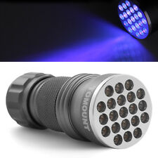 UV Ultra Violet Blacklight 21 LED Flashlight Torch Lamp Light