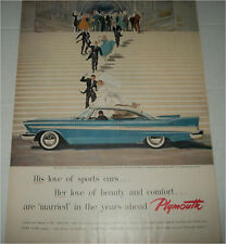 1957 Plymouth Belvedere 2 dr ht Wedding car ad
