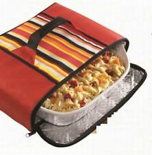 Insulated Zippered Stow-A-Way Collapsible Food Carrier