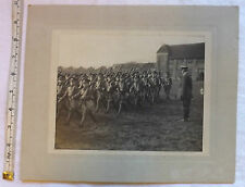 Military WW1/2 Royal Warwickshire Regiment Photograph Young Cadets Marching(3079