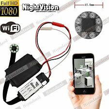 IR Night Vision HD 1080P WiFi Spy IP Camera Mini DVR DIY Module Security 5MP NXU
