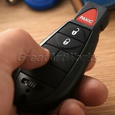 3 Button Keyless Entry Remote Key Shell Case Fob Pad for Dodge Charger 2008-2012