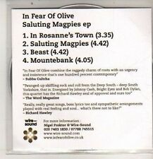(DB597) In Fear Of Olive, Saluting Magpies - 2012 DJ CD
