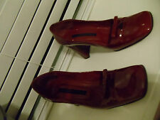 Pura Lopez Women Shoes Wine/Burgundy Patent Leather 40