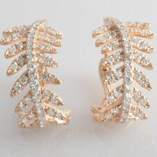100% Solid 14kt 585 Rose Gold & VS Naturald Diamond 0.75ct Find Earring
