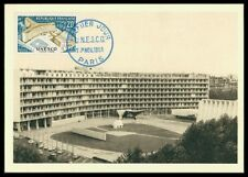 FRANCE MK 1958 UNESCO HEADQUARTER PARIS MAXIMUMKARTE CARTE MAXIMUM CARD MC am94
