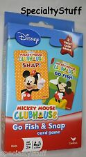 NEW MICKEY MOUSE PLAYING CARDS GO FISH & SNAP 2 SETS OF CARDS IN ONE BOX (FC)
