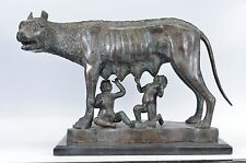 Roman Capitoline Wolf with Romulus and Remus Bronze Sculpture reproduction