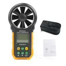 HYELEC MS6252A Wind Speed Meter LCD Digital Anemometer Air Flow Test Backlight