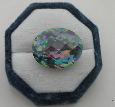 Rainbow Mystic Quartz Oval Cushion gem 27 x 22mm