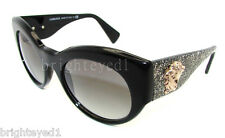 Authentic VERSACE Black & Glitter Medusa Sunglasses VE 4297 A - 515611 *NEW*