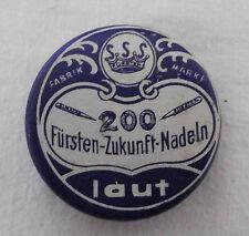 alte Grammophon Nadeldose Fabrik Marke Fürst Zukunft Nadeln Laut Sammlerstück
