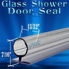 "7/16"" Tall DS106 Frameless Glass Shower Door Seal, Wipe, Sweep  - 98"" Long"