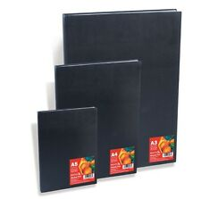 A5 REEVES 80 PAGE 96gsm BLACK HARDBACK SKETCH DRAWING BOOK ARTIST JOURNAL PAD