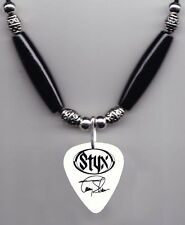 Styx Tommy Shaw Signature White Guitar Pick Necklace - 2006 Tour