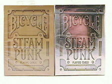 2 Decks Bicycle SteamPunk Standard Poker Playing Cards Silver & Bronze New