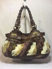 Fossil Fifty Four Hannah Leather Tote Shoulder Patchwork Carry-all Shoulder Bag