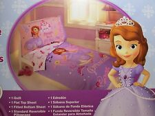 New for Sales - Disney Sofia the First 4 pieces Toddle Bed Set